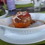 Lunch plate stuffed pepper