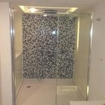 the shower cubicle