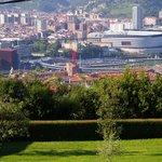 Vuie sur Bilbao depuis la chambre