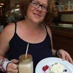 Mojito cake and an illy Freddo :) Mmmmmmmm