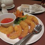 Prawns in batter