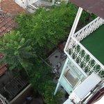 Une chambre+balcon, terrasse petit déjeuner