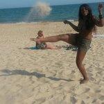 Kicking the sand