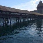 luzern famous wooden bridge
