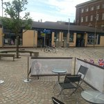 Pop along back of market very good coffee refills after first one half price
