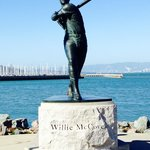 Statue at McCovey Cove