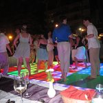 dance floor on the beach