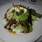 beautiful salad at wedding dinner