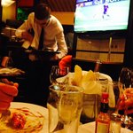 World Cup at Cafe du Rendez Vous, not bad