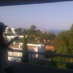 Vista desde terraza del resort