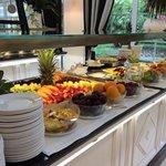 parte del buffet riservata alla frutta
