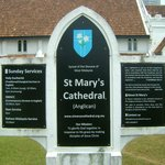 St. Mary's Cathedral signage