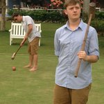 Playing Croquet at the Jamaica Inn