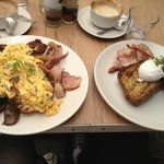 big brunch at Industry Beans