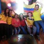 Celebracion partido colombia-costa de marfil