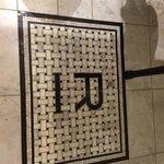 In-laid tile in bathroom