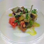 Heirloom Tomato Salad, Balsamic Cream, Croutons Basil
