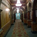 Looking along the corridor, heading towards the rooms