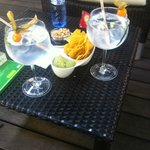 Gin and Tonics that came with some snacks