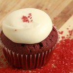 Our classic Southern Belle red velvet cupcake!