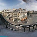 Balcony overlooking Gare de L'Est