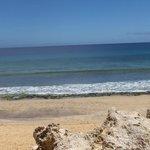 A magnífica praia