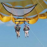 Parasailing with my kid!