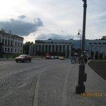 Vista de uma avenida de Varsovia