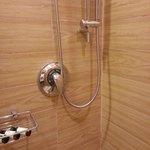 Shower controls.