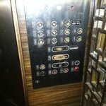 Elevator controls are worn out.