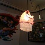 lampara elaborada con... bueno, mejor verlo. ;-)