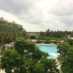 Second pool and view from Silver Palm lounge - the Resort View rooms are on the left and their v