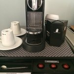 Complementary Nespresso machine in room