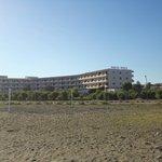 hôtel vu de la plage