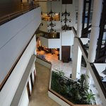 Overlooking lobby and pool