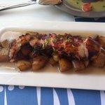 Pulpo con patatas confitadas