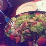 Chopped Salad w/ chickpeas. Very good!