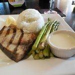 Grilled Swordfish, Rice & Asparagus
