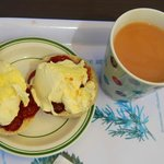 The cream tea - the clotted cream quantity is to my liking