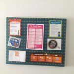 creative bulletin board with information