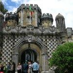 Entering Sintra Castle--drawbridge