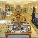 Main Lobby and breakfast buffet