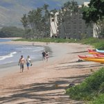 Miles of beach to walk - take extra lotion!!