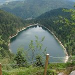 Aerial view of the Lake from Roche du Lac Viewpoint