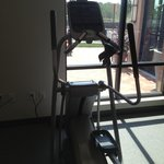 Elliptical machine. You can watch tv on it while you work out