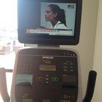 Tv on exercise bike
