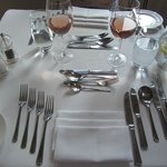 Place setting - never seen so much cutlery!