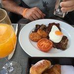 Rumpsteak auf der Frühstückskarte, wow :)