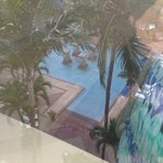 View from our room to pool