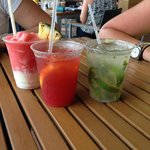 some of the delicious drinks we tasted